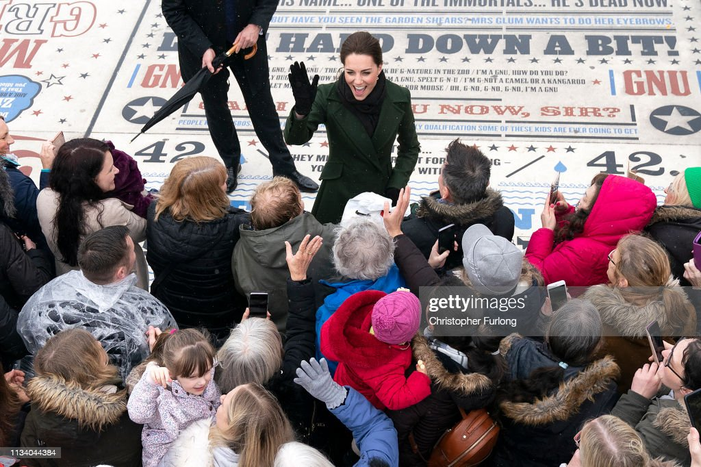 The Duke And Duchess Of Cambridge Visit Blackpool : News Photo
