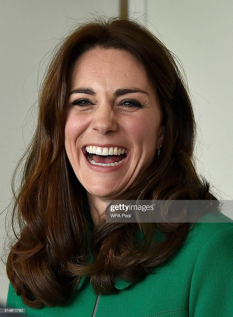 Catherine, Duchess of Cambridge smiles during her visit to St Thomas' Hospital with Prince William, Duke of Cambridge on March 10, 2016 in London, England.