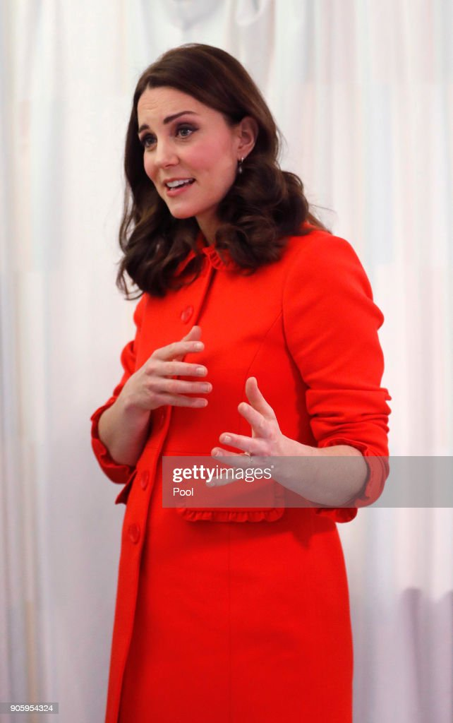 Catherine, Duchess Of Cambridge Speaks As She Visits Great