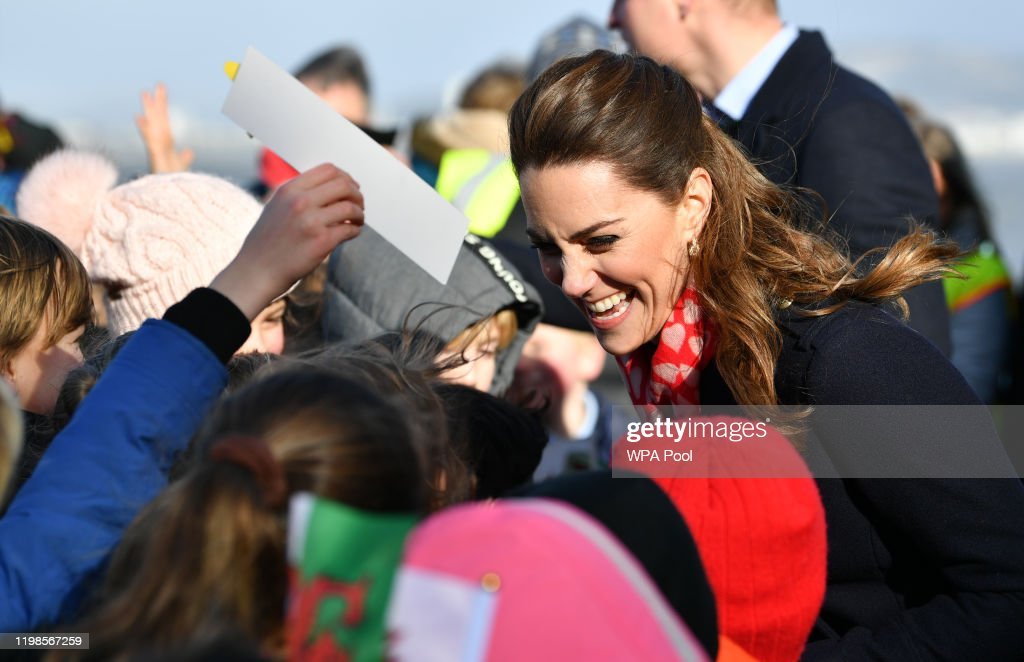 The Duke And Duchess Of Cambridge Visit South Wales : ニュース写真