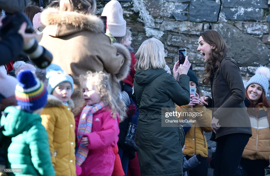 The Duchess Of Cambridge Visits Northen Ireland : News Photo