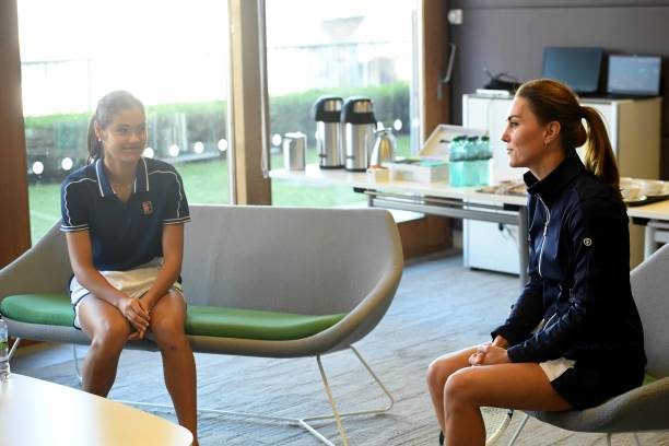 GBR: The Duchess Of Cambridge Meets British US Open Champions