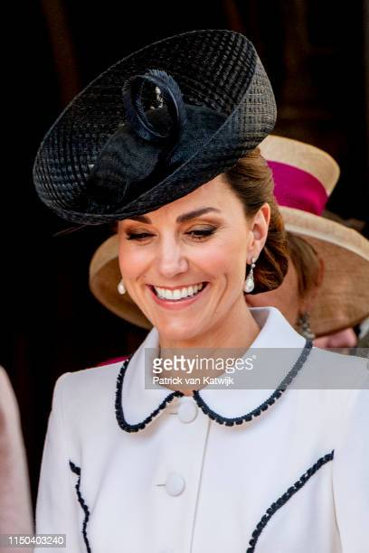 Catherine Duchess of Cambridge St George's Chapel on June 17 2019 in Windsor England