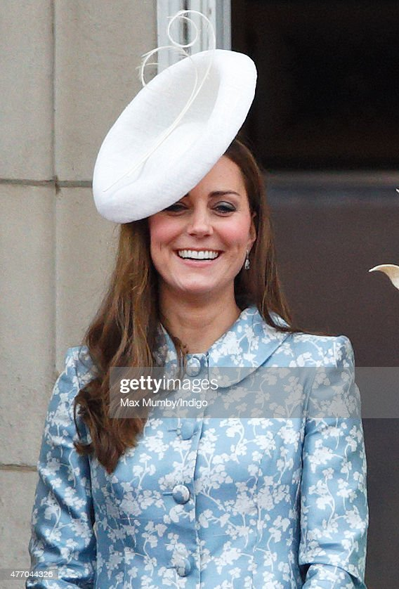 Catherine, Duchess of Cambridge stands on the balcony of Buckingham Palace during Trooping the Colour on June 13, 2015 in London, England. The ceremony is Queen Elizabeth II's annual birthday parade and dates back to the time of Charles II in the 17th Century, when the Colours of a regiment were used as a rallying point in battle.