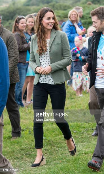Catherine Duchess of Cambridge starts The Ring O'Fire Anglesey Coastal Ultra Marathon on August 30 2013 in Holyhead Wales