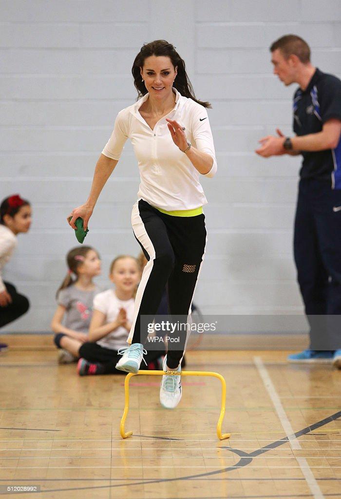 The Duchess Of Cambridge Visits Edinburgh : News Photo