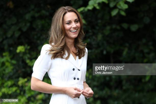 Catherine Duchess of Cambridge talks to CEO Baby Basics UK Cat Ross Founder of Abernecessities Danielle FlecherHorn and CEO Little Village Sophia...