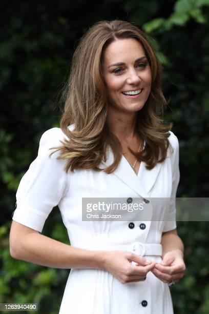 Catherine Duchess of Cambridge talks to CEO Baby Basics UK Cat Ross Founder of Abernecessities Danielle FlecherHorn and CEO Little Village Sophia...