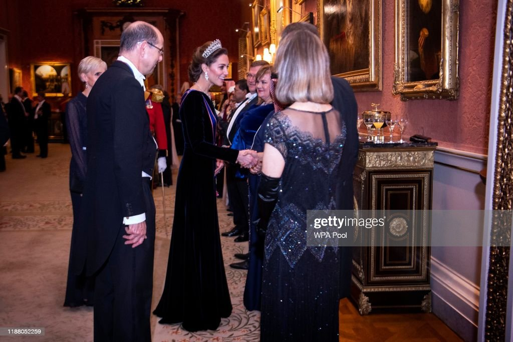 Royals Attend A Reception For The Diplomatic Corps At Buckingham Palace : News Photo