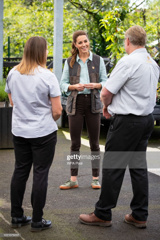 The Duchess of Cambridge Visits Garden Centre in Norfolk : News Photo