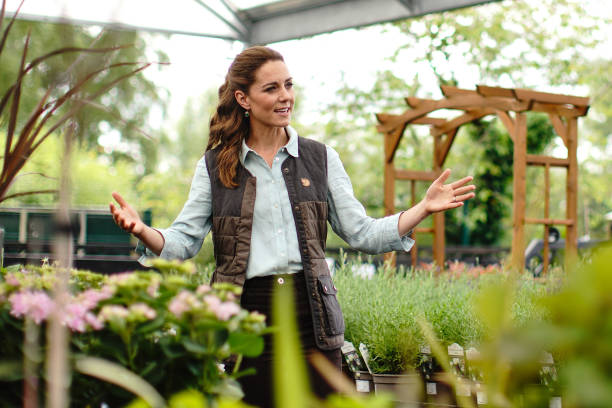 GBR: The Duchess of Cambridge Visits Garden Centre in Norfolk