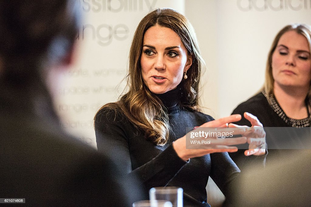 Catherine, Duchess of Cambridge talks to staff members during a visit to the Nelson Trust Women's Centre on November 4, 2016 in Gloucester, England. The Women's Centre was set up in 2010 and is designed to support women who have vulnerabilities, particularly those who have experienced abuse and trauma. Along with a second site in Swindon the Women's Centre supports over 500 women annually, across Gloucestershire, Somerset and Wiltshire. During the visit Her Royal Highness will meet with members of staff and will also be introduced to women who have accessed the centre's vital support.