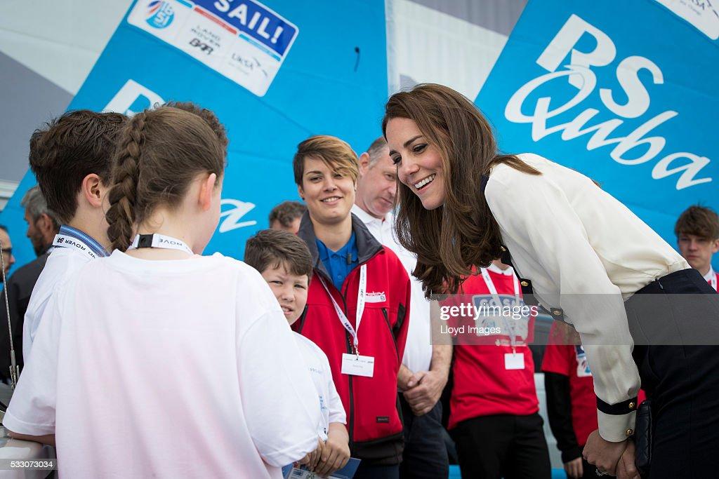The Duchess Of Cambridge Visits Land Rover BAR : News Photo
