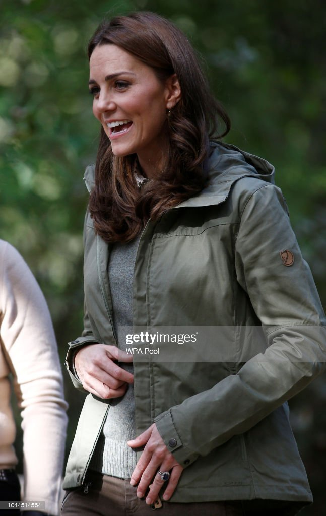 The Duchess Of Cambridge Visits Sayers Croft Forest School : News Photo