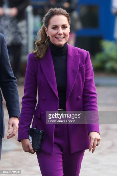 Catherine, Duchess of Cambridge tours the Ulster University Magee Campus on September 29, 2021 in Londonderry, Northern Ireland.