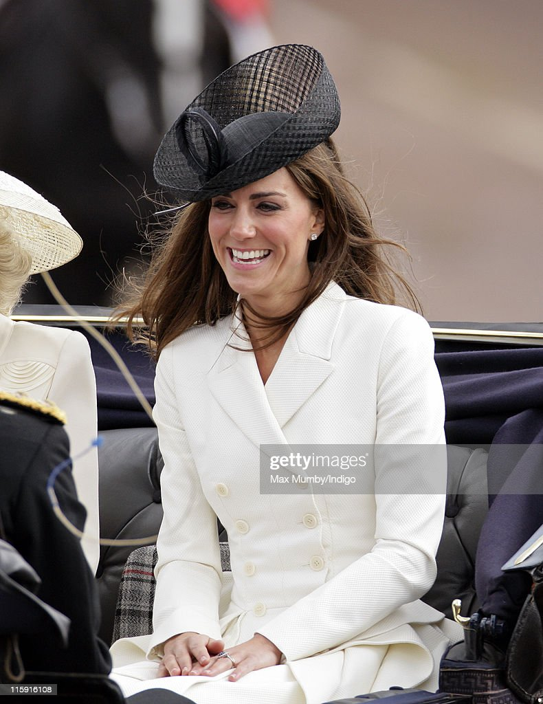 Catherine, Duchess of Cambridge travels down The Mall in a horse drawn carriage as she attends the Trooping the Colour parade on June 11, 2011 in London, England. The ceremony of Trooping the Colour is believed to have first been performed during the reign of King Charles II. In 1748, it was decided that the parade would be used to mark the official birthday of the Sovereign. More than 600 guardsmen and cavalry make up the parade, a celebration of the Sovereign's official birthday, although the Queen's actual birthday is on 21 April.