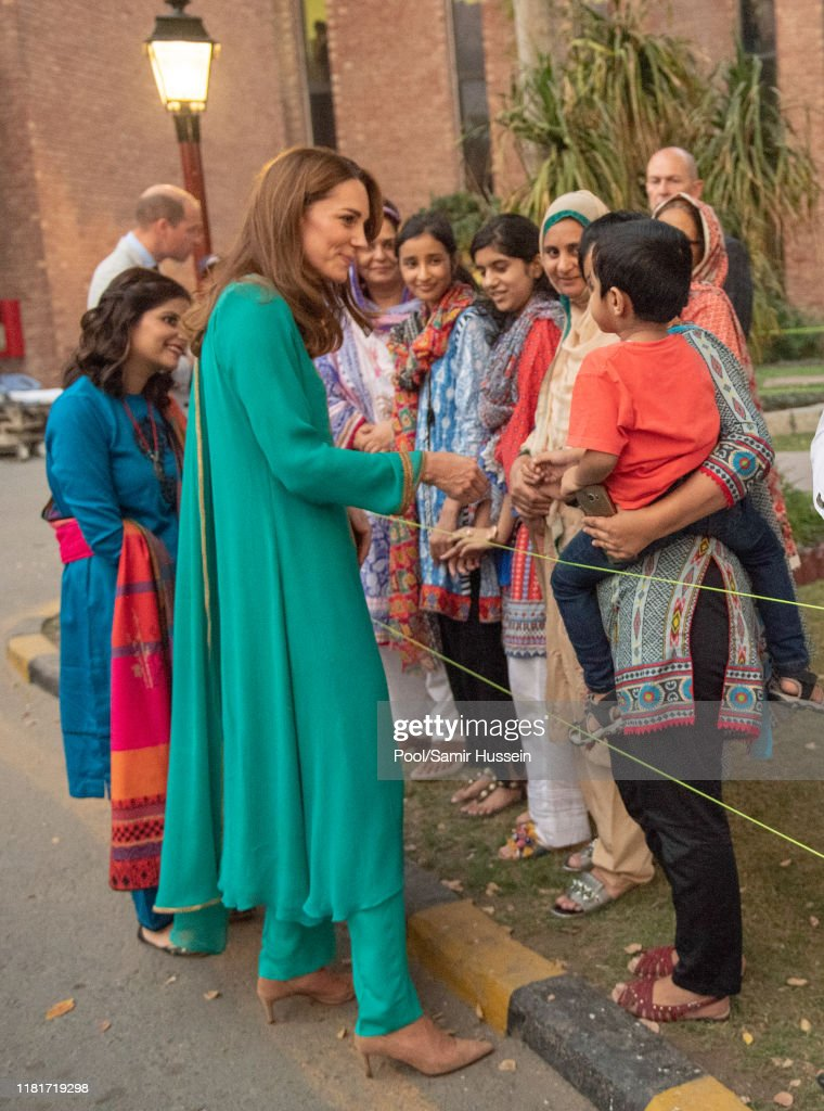The Duke And Duchess Of Cambridge Visit Lahore : News Photo