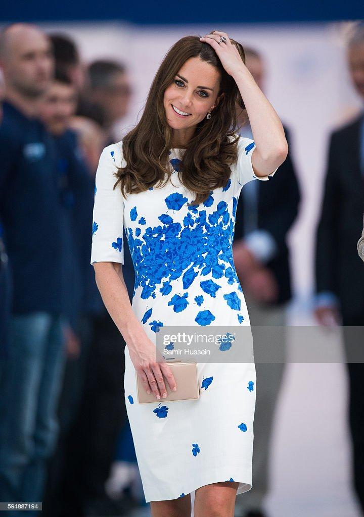 Catherine, Duchess of Cambridge visit Hayward Tyler Luton on August 24, 2016 in Luton, England.