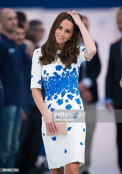 Catherine Duchess of Cambridge visit Hayward Tyler Luton on August 24 2016 in Luton England
