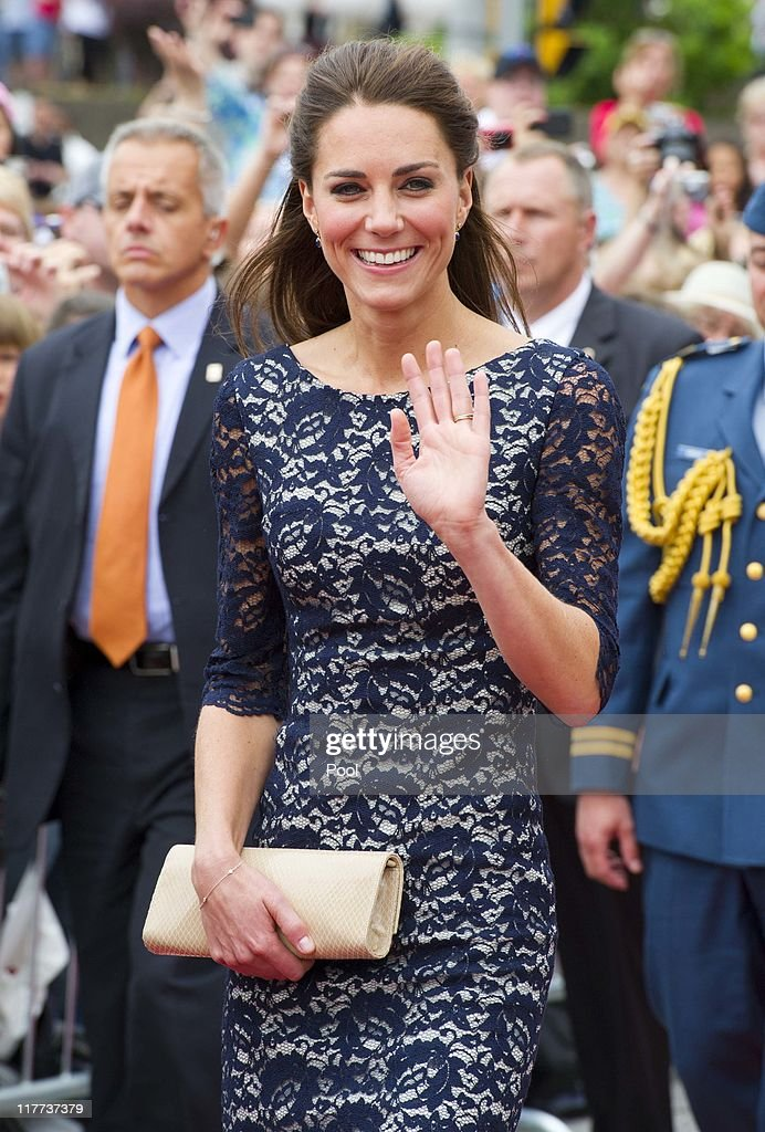 Catherine, Duchess of Cambridge visit the National War Memorial on June 30, 2011 in Ottawa, Canada. The newly married Royal Couple have arrived in Canada today for their first joint overseas tour. Ottawa is the start of a 12-day visit to North America which will take in some of the more remote areas of the country such as Prince Edward Island, Yellowknife and Calgary. The Royal couple will also join millions of Canadians to take part in tomorrow's Canada Day celebrations which mark Canada's 144th Birthday.