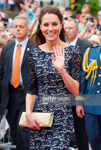 Catherine Duchess of Cambridge visit the National War Memorial on June 30 2011 in Ottawa Canada The newly married Royal Couple have arrived in Canada...
