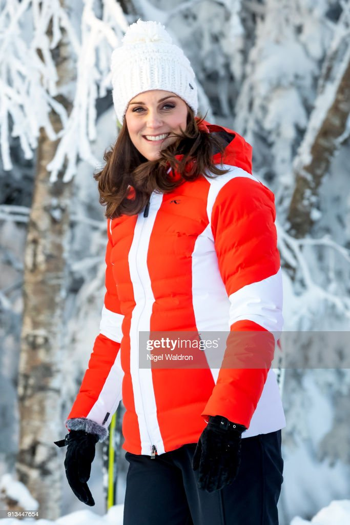Catherine, Duchess of Cambridge visiting Ovresetertjern kindergarten on day 4 of her visit to Sweden and Norway on February 2, 2018 in Oslo, Norway.