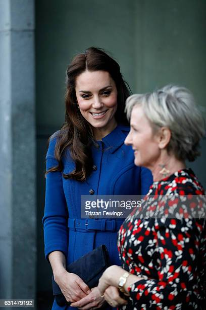 Catherine, Duchess of Cambridge visits a Child Bereavement UK Centre at CBUK Stratford on January 11, 2017 in London, England.