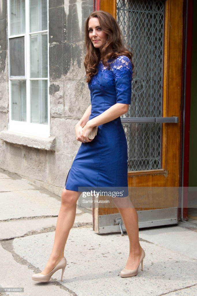 Catherine, Duchess of Cambridge visits a drop in centre for homeless and young people on day 4 of the Royal Couple's North American Tour, July 3, 2011 in Quebec, Canada.