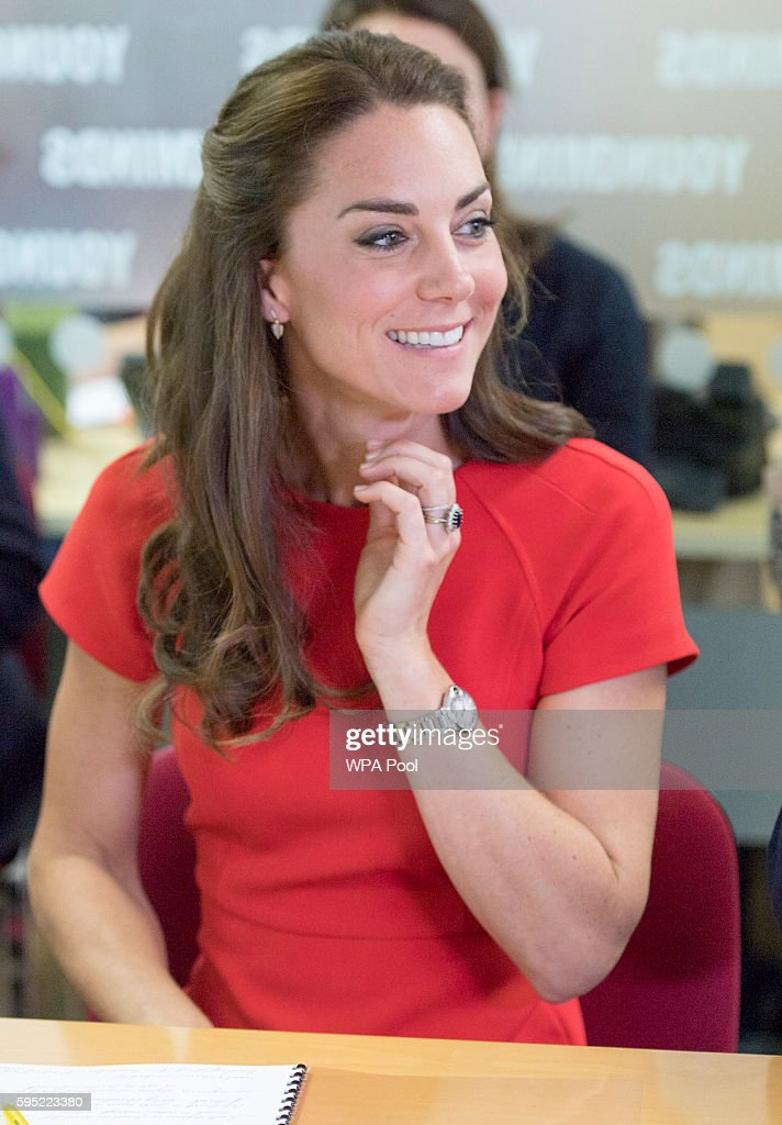 The Duke & Duchess Of Cambridge Visit YoungMinds Mental Health Charity Helpline : News Photo