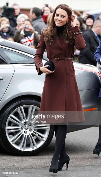 Catherine Duchess of Cambridge visits Alder Hey Children's Hospital on February 14 2012 in Liverpool England Catherine The Duchess of Cambridge is in...