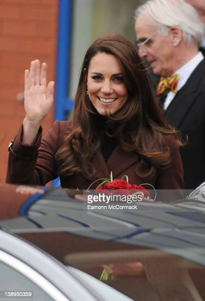 Catherine Duchess of Cambridge visits Alder Hey Childrens Hospital on February 14, 2012 in Liverpool, England.