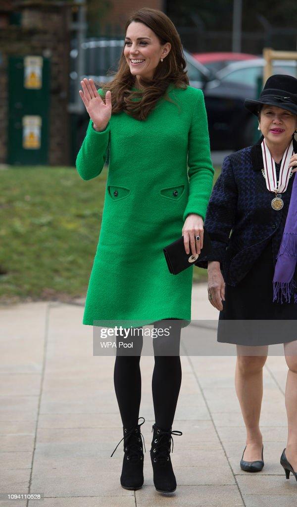 The Duchess Of Cambridge Visits Schools In Support Of Children's Mental Health : Fotografía de noticias