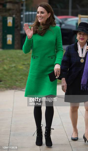 Catherine Duchess of Cambridge visits Alperton Community School in support of Place2Be's Children's Mental Health Week 2019 on February 05 2019 in...