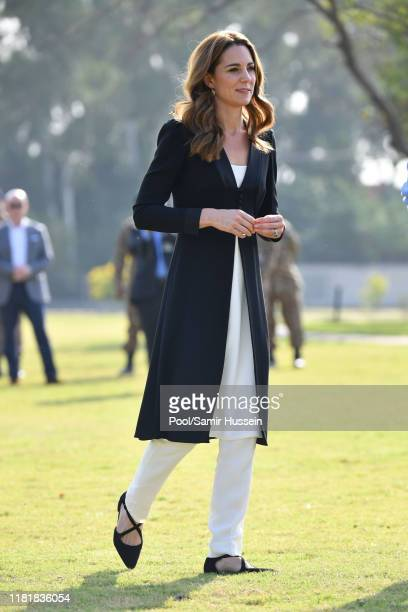 Catherine, Duchess of Cambridge visits an Army Canine Centre with Prince William, Duke of Cambridge, where the UK provides support to a programme...