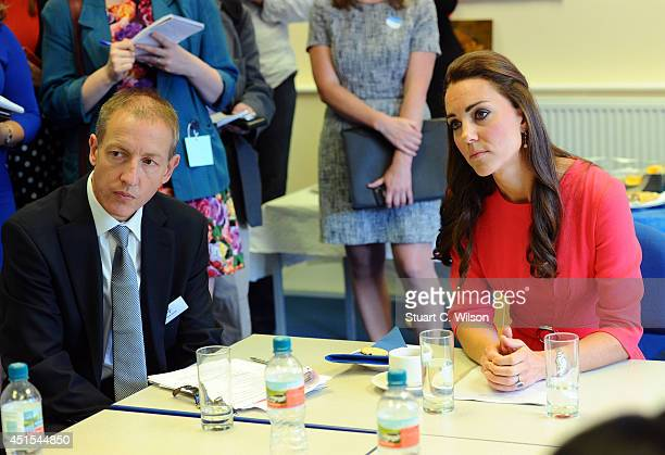 Catherine Duchess of Cambridge visits an MPACT Plus Counselling programme at Blessed Sacrament School on July 1 2014 in London England