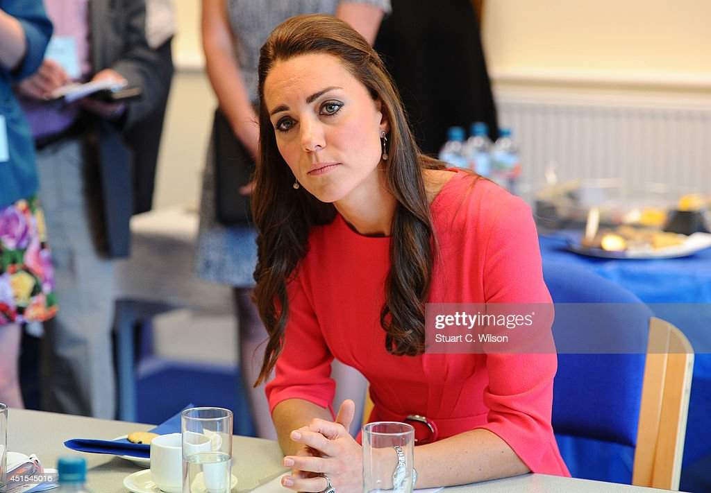 The Duchess Of Cambridge Visits An M-PACT Plus Counselling Programme : News Photo