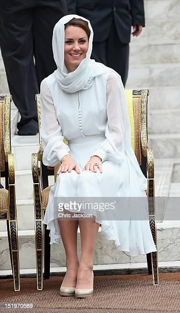 Catherine Duchess of Cambridge visits Assyakirin Mosque on day 4 of Prince William Duke of Cambridge and Catherine Duchess of Cambridge's Diamond...