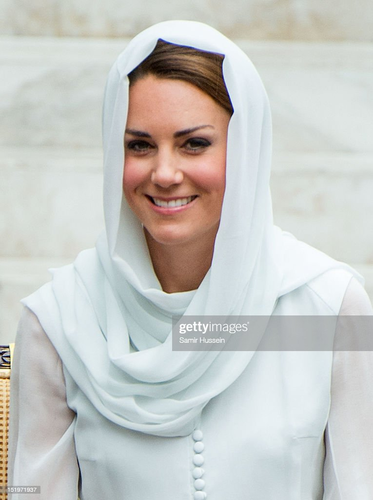 Catherine, Duchess of Cambridge visits Assyakirin Mosque on day 4 of Prince William, Duke of Cambridge and Catherine, Duchess of Cambridge's Diamond Jubilee Tour of the Far East on September 14, 2012 in Kuala Lumpur, Malaysia.