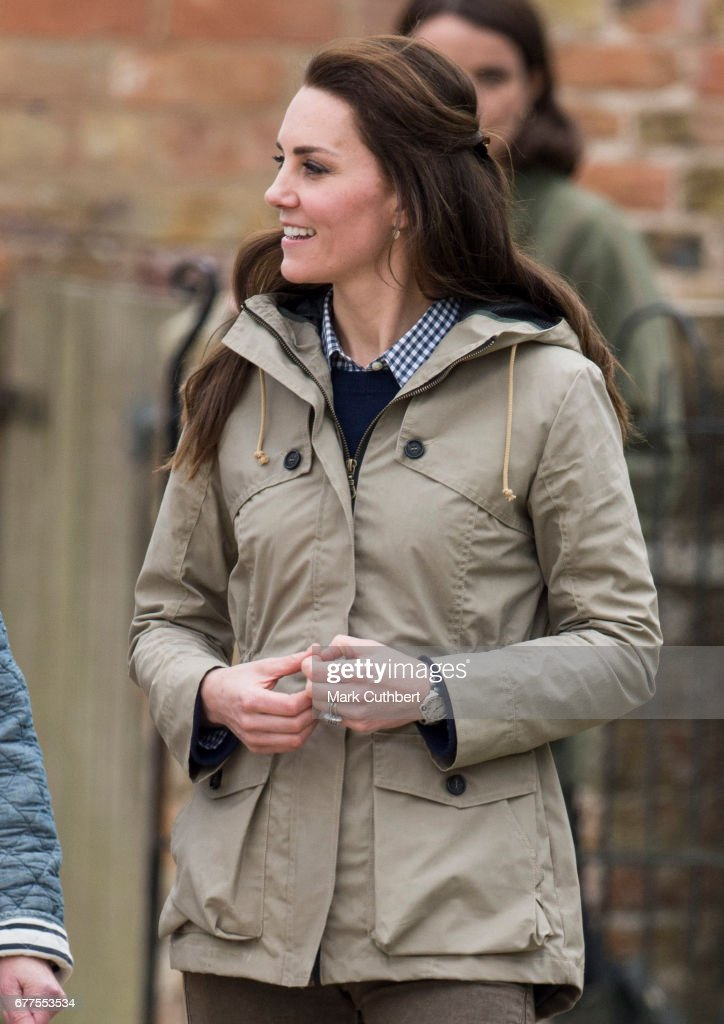 The Duchess Of Cambridge Visits Farms For City Children : News Photo