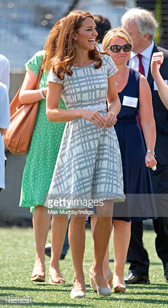 Catherine Duchess of Cambridge visits Bacon's College on July 26 2012 in London England