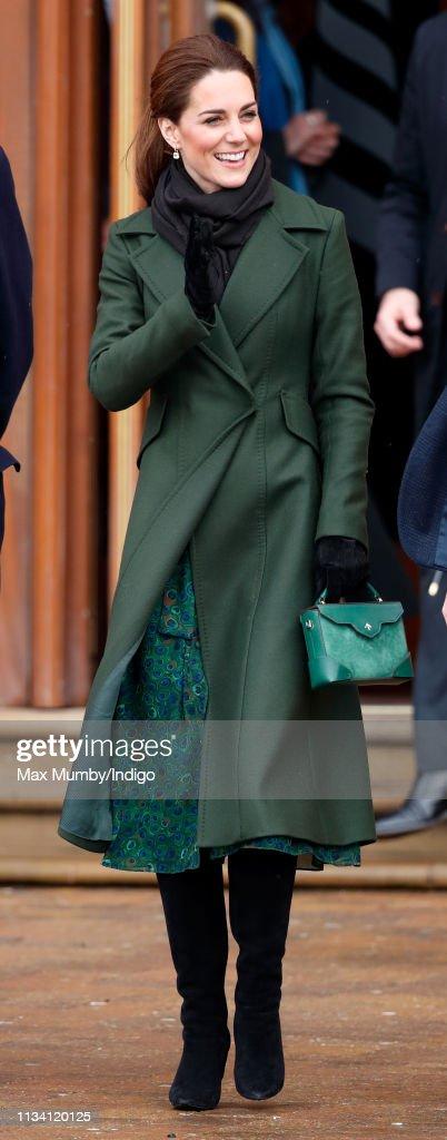 The Duke And Duchess Of Cambridge Visit Blackpool : News Photo