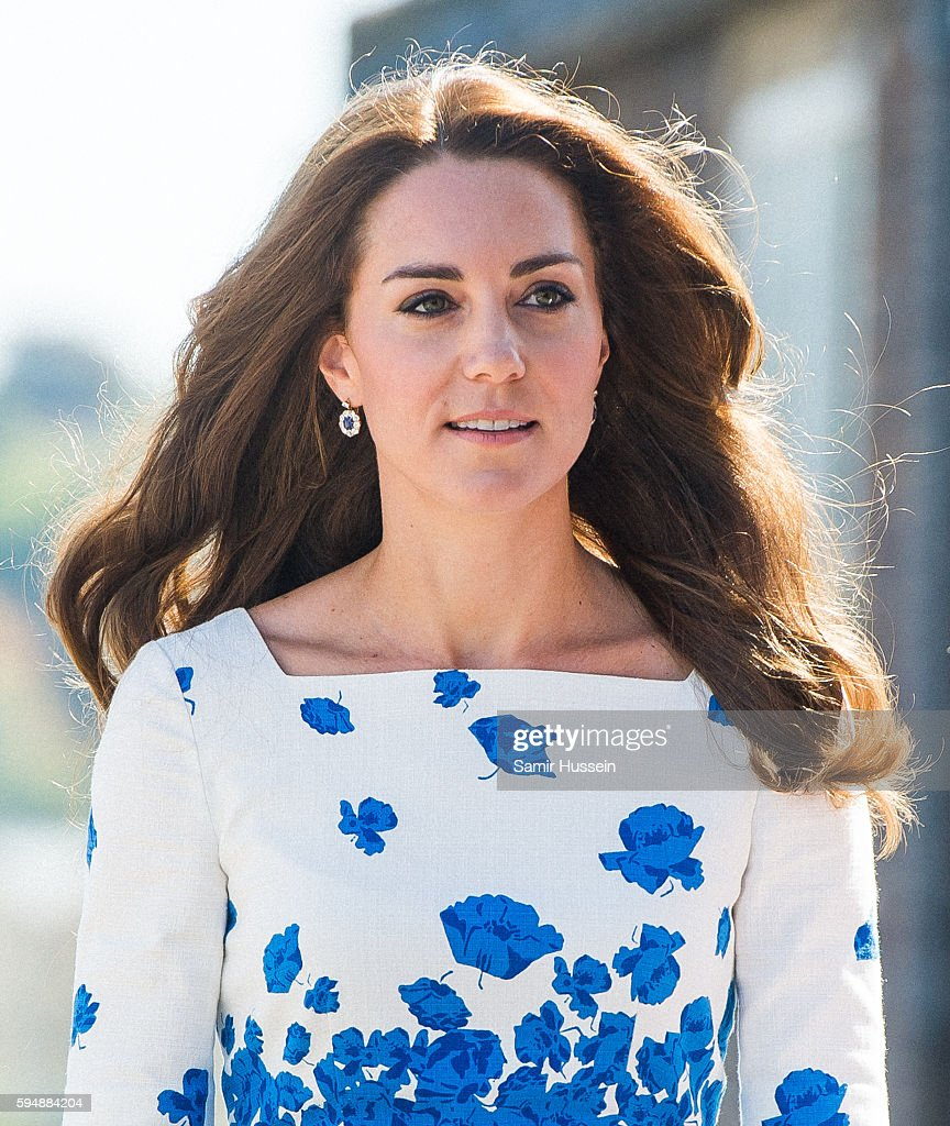 Catherine, Duchess of Cambridge visits Bute Mills during a visit to Luton on August 24, 2016 in Luton, England.
