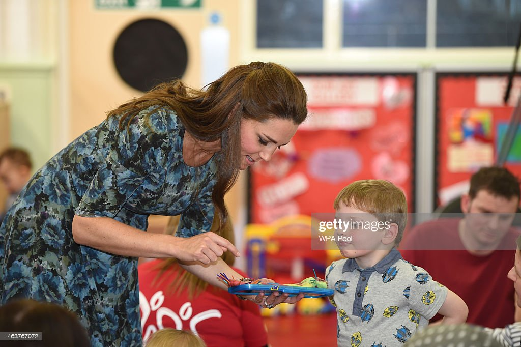 The Duchess Of Cambridge Visits Action For Children's Cape Hill Children's Centre : News Photo