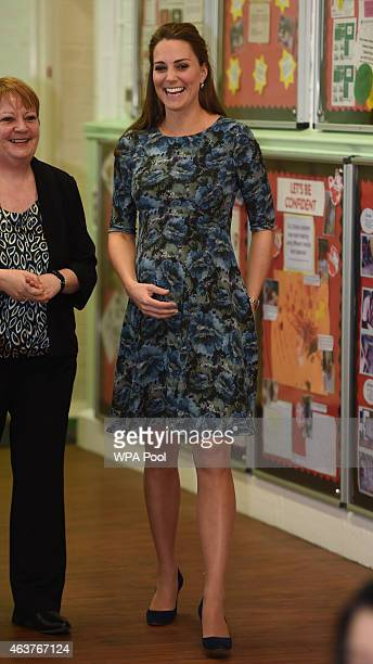 Catherine Duchess of Cambridge visits Cape Hill Children's Centre on February 18 2015 in Smethwick England
