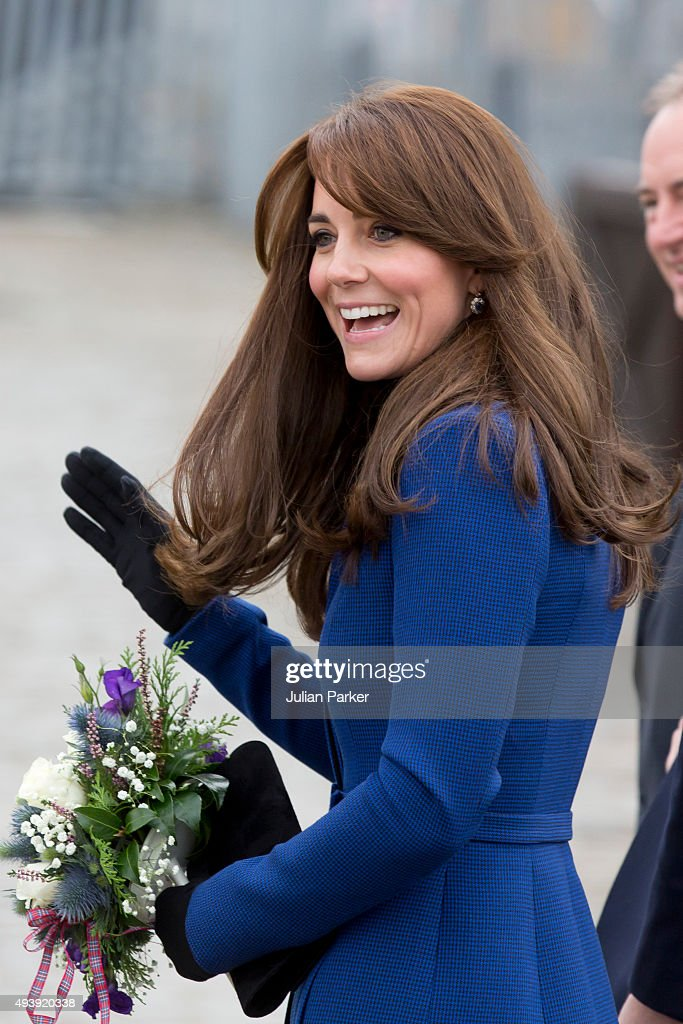 Catherine, Duchess of Cambridge visits Captain Scotts tall ship 'The Discovery ' during at day of engagements in the City of Dundee, with Prince William, The Duke of Cambridge, on October 23, 2015 in Dundee, Scotland.