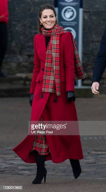 Catherine, Duchess of Cambridge visits Cardiff Castle as part of their working visits across the UK ahead of the Christmas holidays on December 8,...
