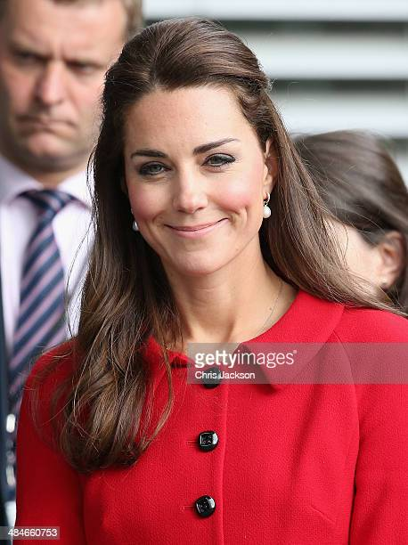 Catherine Duchess of Cambridge visits Christchurch City Council Buildings on April 14 2014 in Christchurch New Zealand The Duke and Duchess of...