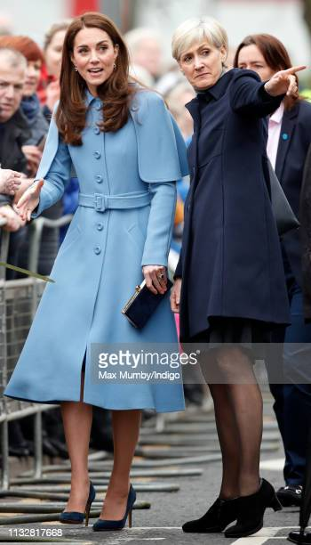 Catherine Duchess of Cambridge visits CineMagic at the Braid Arts Centre on February 28 2019 in Ballymena Northern Ireland Prince William last...