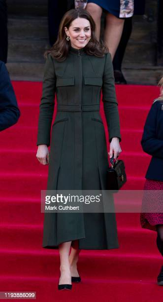 Catherine Duchess of Cambridge visits City Hall in Bradfords Centenary Square where she met members of the public on a walkabout on January 15 2020...