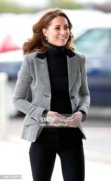 Catherine, Duchess of Cambridge visits Coach Core Essex at Basildon Sporting Village on October 30, 2018 in London, England.